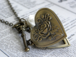 "Medaillon Ketting ""Locked Heart"""