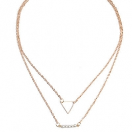 """Layering Ketting """"Pearly Triangle"""""""