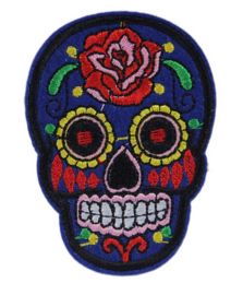 "Doodshoofd Patch ""Blue Skull"""