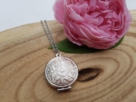 "Medaillon Ketting ""Plain Silver Locket"""