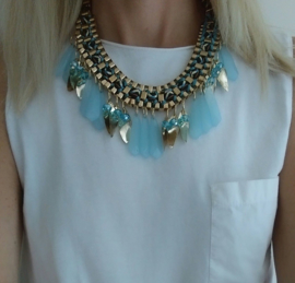 "Statement Ketting ""The Sky Is The Limit"" Lichtblauw"
