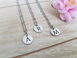 "Letter Ketting ""My Name Is..."" Stainless Steel"