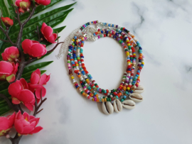 "Kralen Ketting ""Rainbow Seashell"""