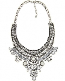 "Statement Ketting ""Sparkles & Pearls"""