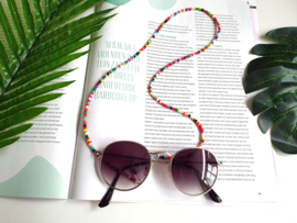 "Brillenkoordje / Sunny Cords ""Rainbow Beads"""
