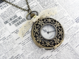"Zakhorloge Ketting ""Watch The Flowers"" Large"