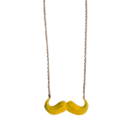"Snor Ketting ""Large Yellow Mustache"""