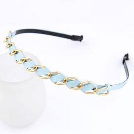 """Haarband """"Blue Braided Chain"""""""