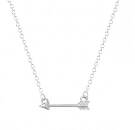 "Pijl Ketting ""Tiny Arrow"" Gold of Silver Plated"