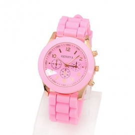 "Horloge ""Watch My Candy Colors"" Roze"