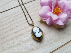 "Medaillon Ketting ""Vintage Cameo Locket"""