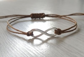 "Armband ""Infinity"" Middenbruin"