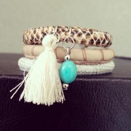 """Ibiza Armband """"Natural Colored Snake"""""""