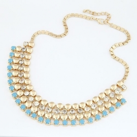 "Statement Ketting ""Gorgeous Blue"""