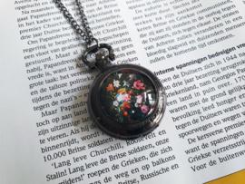 "Zakhorloge Ketting ""Floral Timepiece"" Medium"