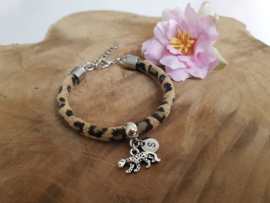 """Luipaard Armband """"Leopard Initial"""""""