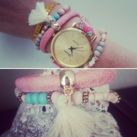 "Armbanden Set ""Pastel Love Duo"""
