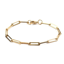 """Grove Schakel Armband """"Gold Chains"""" Stainless Steel"""