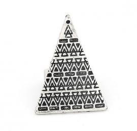 "Ring ""Aztec Pyramid""  Zilverkleur"