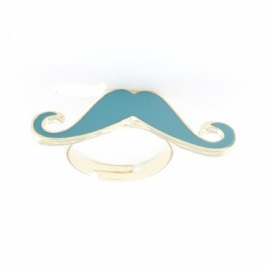 "Snor Ring ""Blue Mustache"""