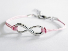 Infinity Armband - Lichtroze