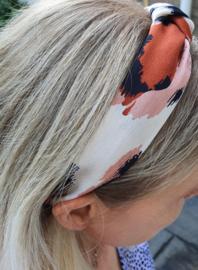 "Haarband ""Brownie"" Zwart / Bruin / Creme"