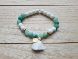 "Boho Armband ""Dragon Vein Stones"" Groen of Paars"