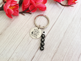 """Vaderdag Cadeau """"Sleutelhanger Love You To The Moon"""""""