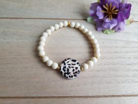 """Schelp Armband Met Luipaardprint """"Leopard Shell"""""""