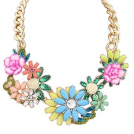 """Statement Ketting """"Relief Flowers"""""""