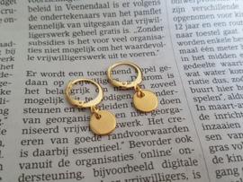 """Oorbellen """"Golden Coin"""" Stainless Steel"""