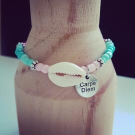 """Armband """"Carpe Diem Seashell"""""""