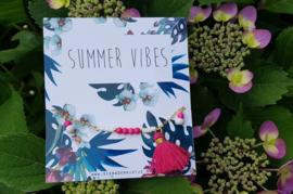 """Enkelbandje """"Summer Vibes"""" (met of zonder kaartje)"""