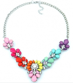 "Statement Ketting ""Rainbow Colors"""