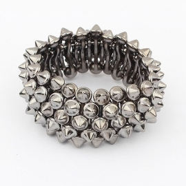 "Armband ""Stretchy Grey Rivets"""