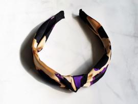 """Haarband """"Purple Please"""" Paars / Zwart / Creme"""