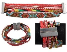 "Ibiza Armband ""Multi String Red"""