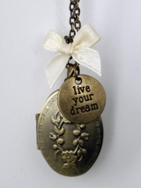 """Medaillon Ketting """"Live Your Dream"""""""