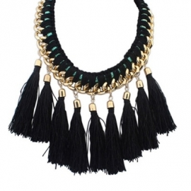 "Statement Ketting ""Weaved Tassel"""