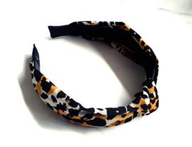 """Luipaard Haarband """"Leopard Print"""" Geel / Zwart"""