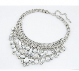 """Statement Ketting """"Exaggerated Ice Drops"""""""