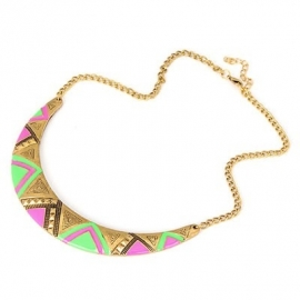 "Ketting ""Colored Aztec Disc"""