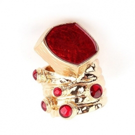 "Ring ""Artsy Enamel Ring"" Rood"