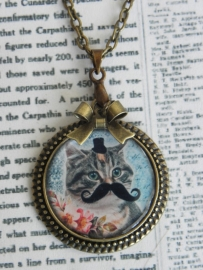 """The Mustached Cat Collection Ketting """"Kitty"""""""