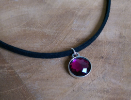 "Choker Ketting ""Purple Stone"""