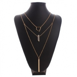 "Layering Ketting ""Geometric Chrystal"""