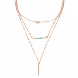 "Layering Ketting ""Blue Beads"""