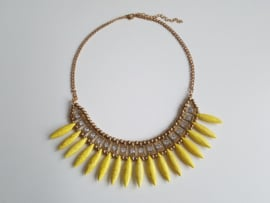 "Statement Ketting ""Indian Ibiza"" Geel"