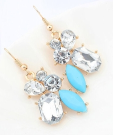 """Oorbellen """"Elegant Turquoise Jewel"""""""