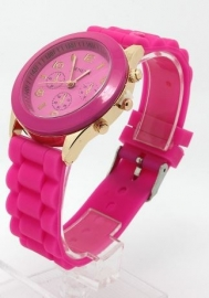 """Horloge """"Watch My Candy Colors"""" Hot Pink"""